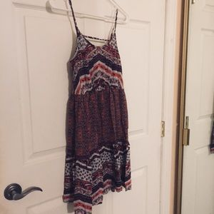 Cute Back Tiered Layered Boho Chic Pleated Dress
